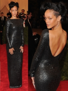Rihanna in Tom Ford Croc Dress