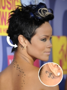 Rihanna Pisces Sign Tattoo