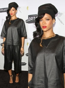 Rihanna in Damir Doma Leather Outfit