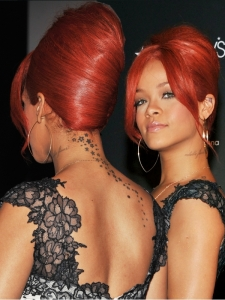 Rihanna Updo Hairstyle 2011 - Back View