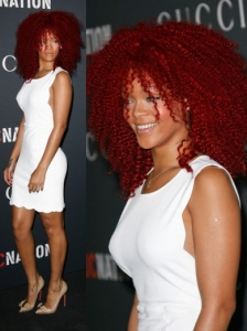 Rihanna in White Dress