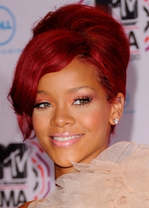 Rihanna Coral Eye Makeup