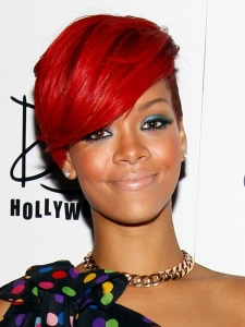 Rihanna Bright Red Hair Color
