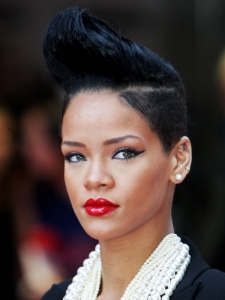 Rihanna's Buzzcut with Quiff Hairstyle