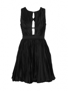 Roberto Cavalli Pleated Cotton-Blend Dress