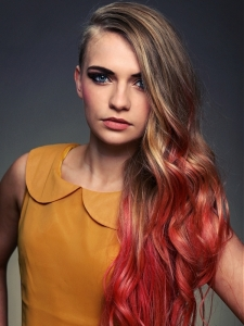 Voguish Dip Dye Long Hairstyle