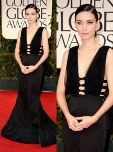Rooney Mara in Nina Ricci at 2012 Golden Globes