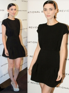 Rooney Mara in Miu Miu Black Dress