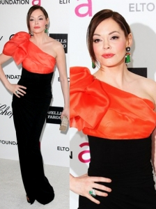 Rose McGowan in Paule Ka One Shoulder Gown