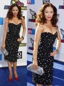 Rose McGowan in Dolce & Gabbana Star Print Dress