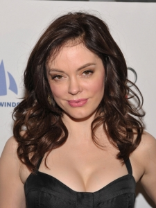 Rose McGowan Brunette Curly Hairstyle