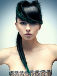 Green Hair Highlights Idea
