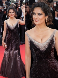 Salma Hayek in Gucci Embellished Gown