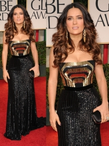 Salma Hayek in Gucci at 2012 Golden Globes