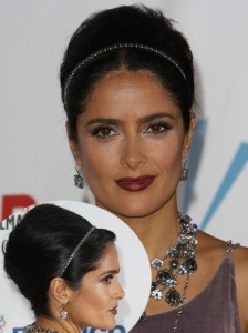 Salma Hayek Voluminous Updo