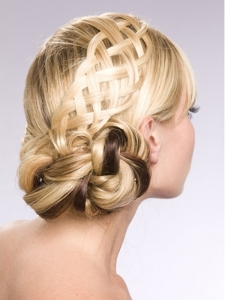 Flirty Braided Updo Hair Style