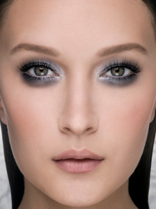 Glittery Glam Grey Makeup