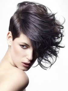 Glam Asymmetrical Short Hairstyle