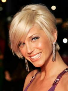 Sarah Harding's Short Bob Haircut