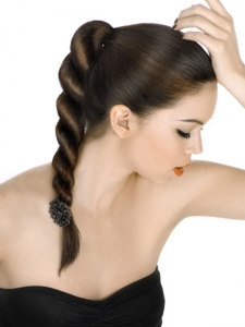 Rope Braided Hair Style