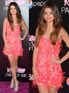 Selena Gomez in Emilio Pucci Pink Dress