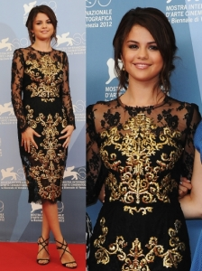 Selena Gomez in Dolce & Gabbana Dress