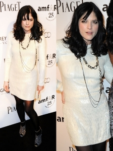 Selma Blair in Calvin Klein White Dress