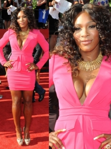 Serena Williams in Rachel Roy Pink Dress