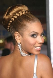 Beyonce Greek Goddess Updo