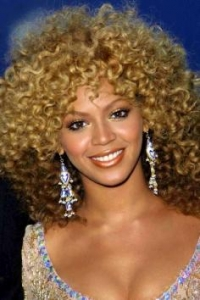 Beyonce with Wild Curly Hairstyle