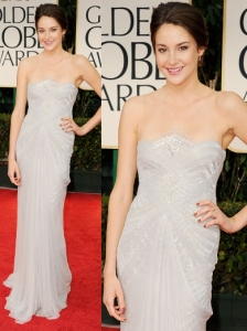 Shailene Woodley in Marchesa at 2012 Golden Globes