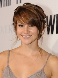 Shailene Woodley Updo with Side Bangs