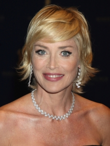 Sharon Stone's Short Shag Hairstyle