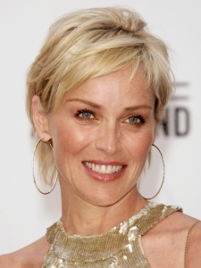 Sharon Stone with Short Haircut