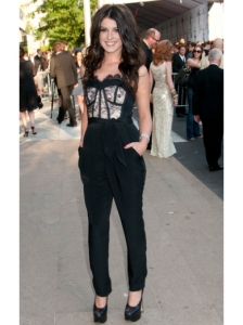 Shenae Grimes Lace Top and Pants