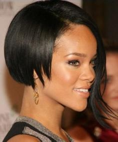 Rihanna with Asymmetric Bob