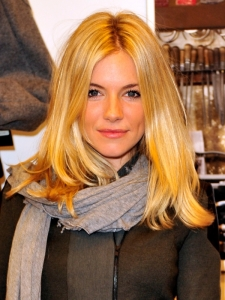 Sienna Miller Blonde Smooth Hairstyle
