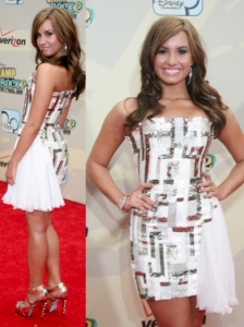 Demi Lovato in Georges Chakra Dress