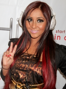Snooki's Hairstyle with Red Streaks