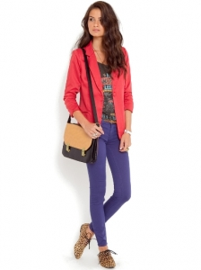 Spray On Purple Skinny Jeans