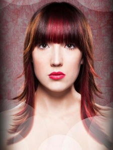 Magenta Hair Highlights Idea