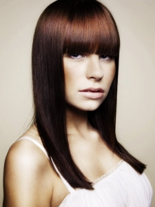Voguish Long Blunt Bangs Hairstyle