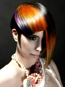 Glam Rainbow Hair Highlights