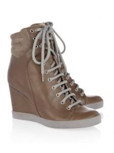 Suede High-Top Wedge Sneakers
