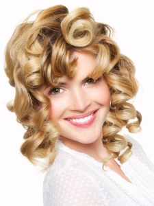 Medium Big Curly Hair Style