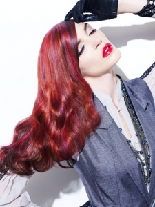 Magenta Red Hair Highlights