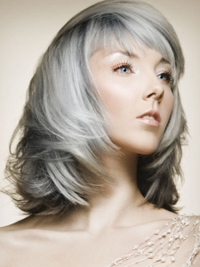 Medium Gray Hair Style