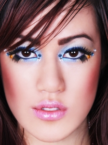 Halloween Blue Makeup Idea