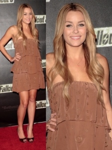 Lauren Conrad in Sheri Bodell Royal Roost Dress