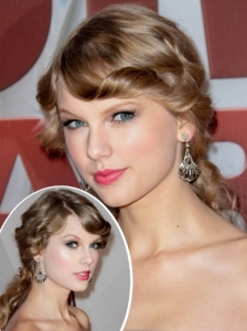 Taylor Swift Curly Low Pony